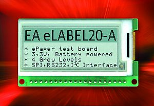 ePaper Display - Electronic Label for Embedded Applications