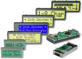 LCD serial displays monochrome for text and graphics
