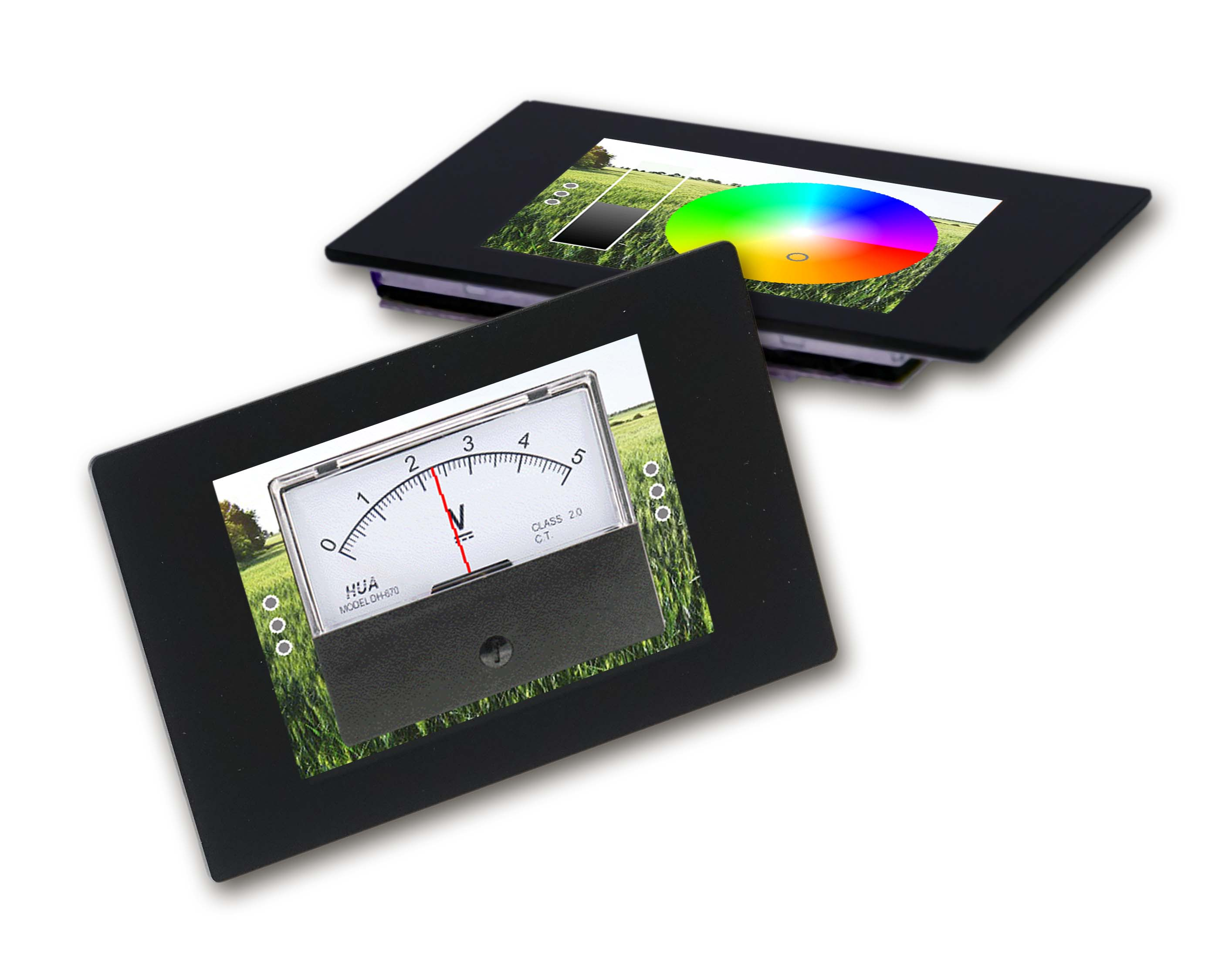 Intelligent displays for home automation for display, control and regulation