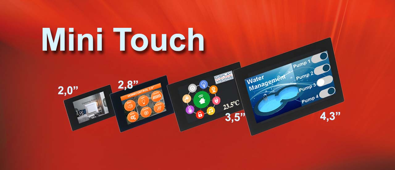 HMI display as Mini Touch with various I/Os