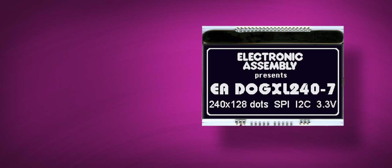 LCD display graphics EA DOGXL240 as Chip-On-Glass