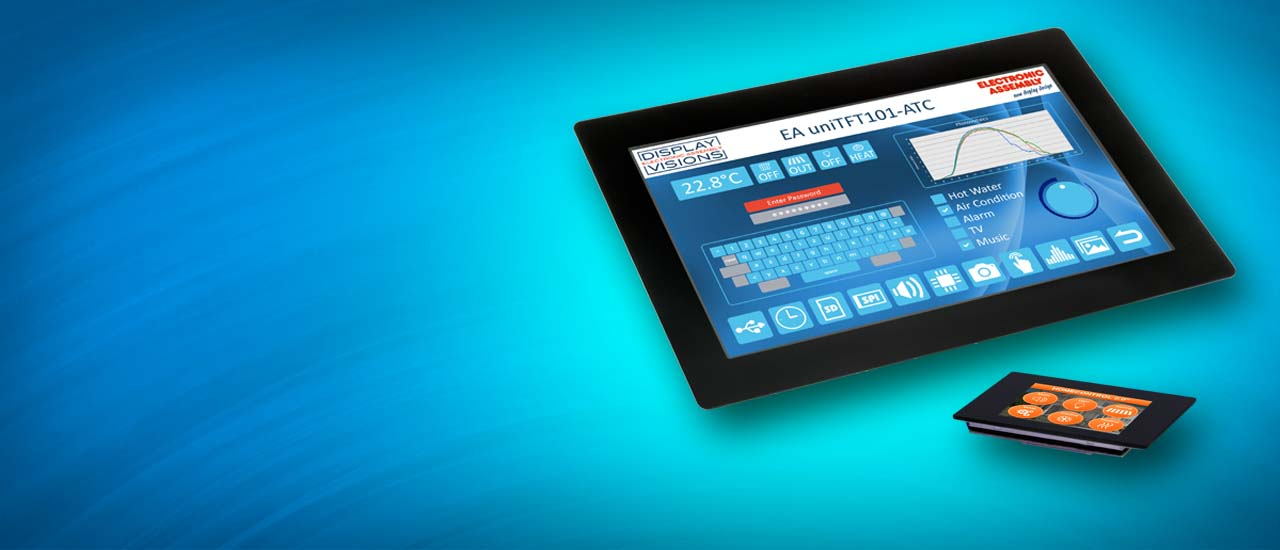 Touch screen module as HMI