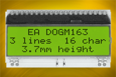 EA DOGM162L-A w./o. backlight